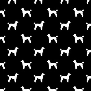 poodle silhouette fabric best dogs quilting fabric dog design - black