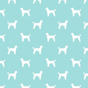 poodle silhouette fabric best dogs quilting fabric dog design - blue tint