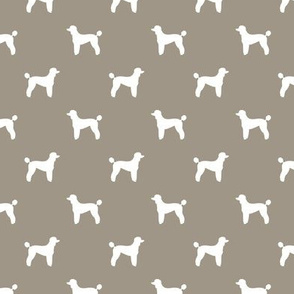 poodle silhouette fabric best dogs quilting fabric dog design - brown