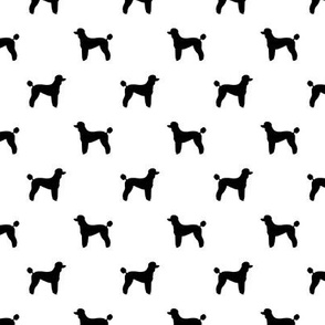 poodle silhouette fabric best dogs quilting fabric dog design - white and black