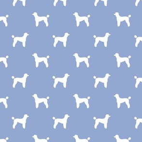 poodle silhouette fabric best dogs quilting fabric dog design - cerulean
