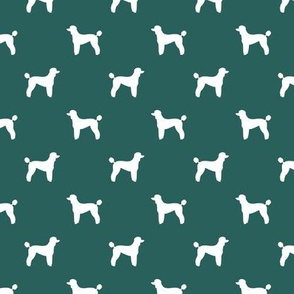 poodle silhouette fabric best dogs quilting fabric dog design - eden green