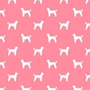 poodle silhouette fabric best dogs quilting fabric dog design - flamingo pink