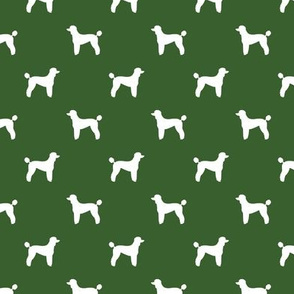 poodle silhouette fabric best dogs quilting fabric dog design -garden green