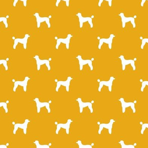 poodle silhouette fabric best dogs quilting fabric dog design - goldenrod