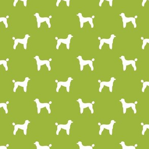 poodle silhouette fabric best dogs quilting fabric dog design - lime green