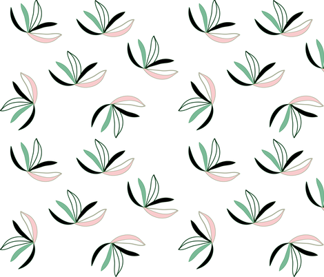 muted_leaves-01 fabric by pip_pottage on Spoonflower - custom fabric