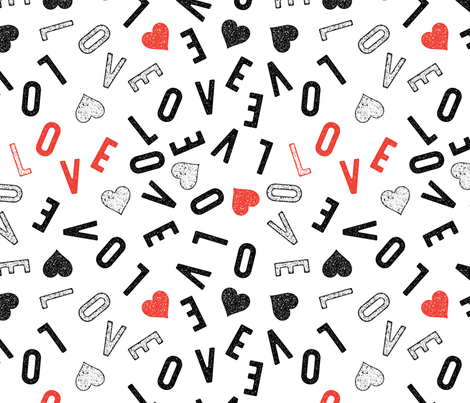 Love Hearts fabric by cynthiafrenette on Spoonflower - custom fabric