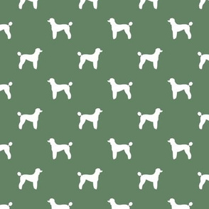 poodle silhouette fabric best dogs quilting fabric dog design - medium green