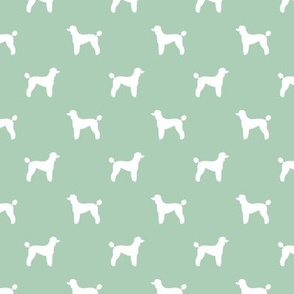 poodle silhouette fabric best dogs quilting fabric dog design - mint green