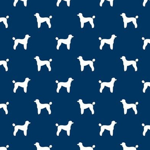 poodle silhouette fabric best dogs quilting fabric dog design - navy