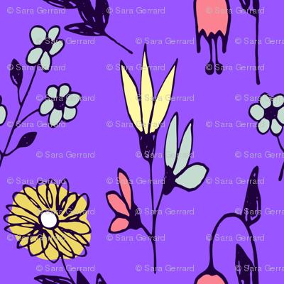 floral informal on grape