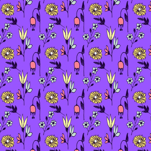 floral informal on grape