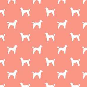 poodle silhouette fabric best dogs quilting fabric dog design - peach