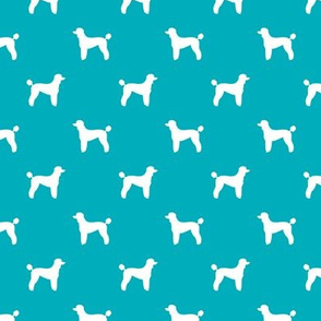 poodle silhouette fabric best dogs quilting fabric dog design - peacock