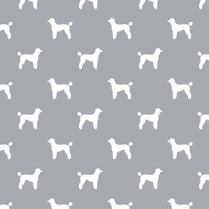 poodle silhouette fabric best dogs quilting fabric dog design - quarry grey
