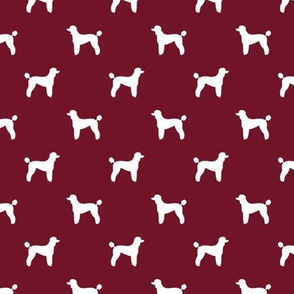 poodle silhouette fabric best dogs quilting fabric dog design - ruby red