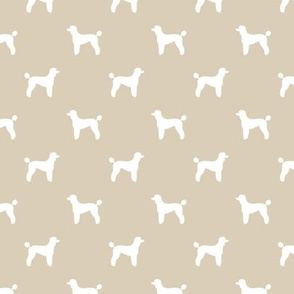 poodle silhouette fabric best dogs quilting fabric dog design - sand