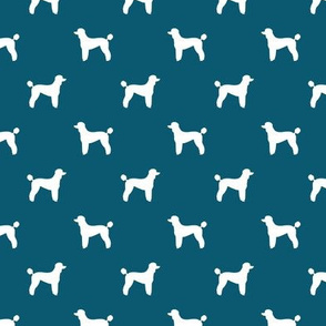poodle silhouette fabric best dogs quilting fabric dog design - sapphire