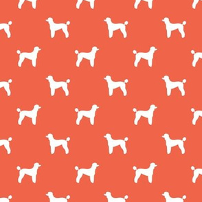 poodle silhouette fabric best dogs quilting fabric dog design - scarlet
