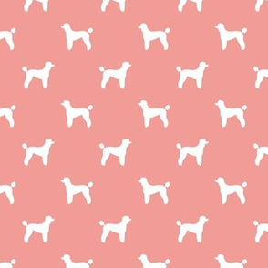 poodle silhouette fabric best dogs quilting fabric dog design - sweet pink