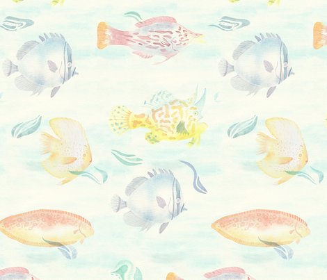 Fish_Pile_Cropped_FINAL fabric by tamarindo on Spoonflower - custom fabric