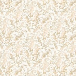 Paisley taupe tan Beige Khaki_Miss Chiff Designs