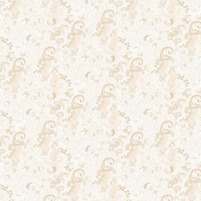 Cream Tan Khaki Taupe paisley swirls 2_Misschiffdesigns