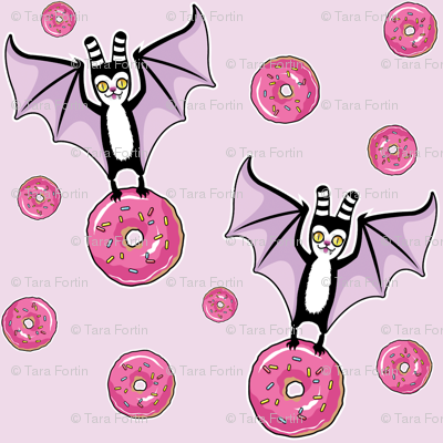 bat and donut- pink version