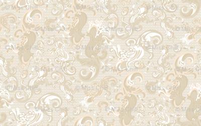 Cream Tan Khaki Taupe Paisley swirls 1_Misschiffdesigns