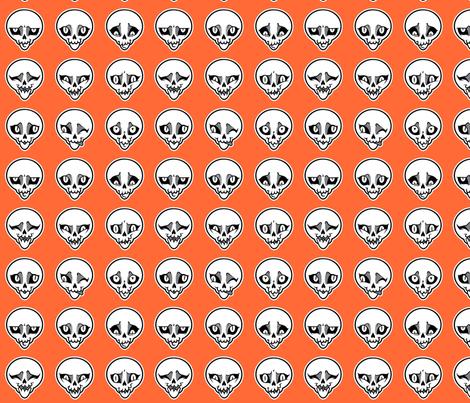 Skeleton Feels - Halloween Version fabric by blacklilypie on Spoonflower - custom fabric