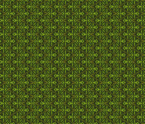 Tropical Zig Zag in Jungle Greens fabric by jaylinn on Spoonflower - custom fabric