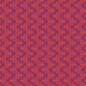 Tropical Zig Zag in Fuschia and Orange