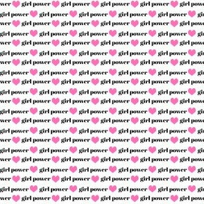 girl power mini print