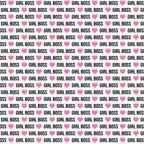 girl boss micro print
