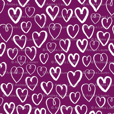 hearts // purple mauve dark purple hearts valentines love design