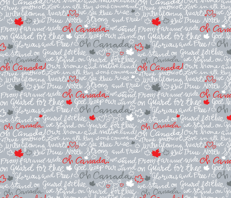 Oh Canada! fabric by cynthiafrenette on Spoonflower - custom fabric
