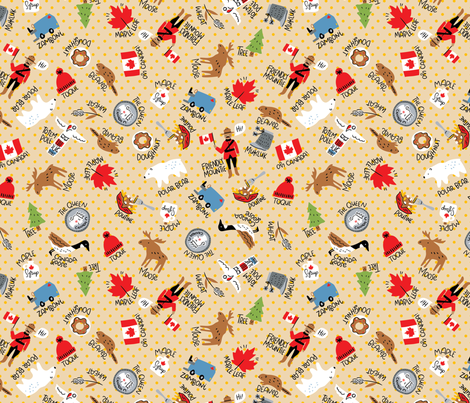 Canadian Things fabric by cynthiafrenette on Spoonflower - custom fabric