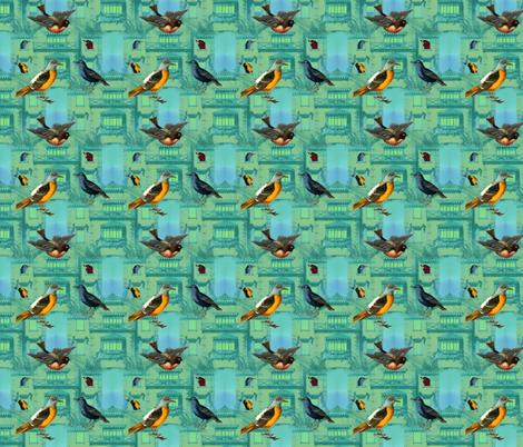Bird House fabric by sherrileeder on Spoonflower - custom fabric
