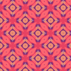 Coral and Pink Geometric