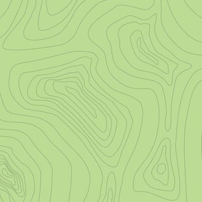 Mt. Relief Map - Light Green