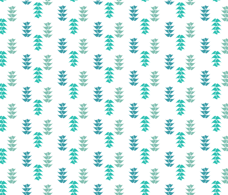 Blue Garden fabric by sopupuka on Spoonflower - custom fabric