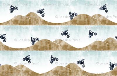(small scale) motocross / dirt bike  || blue&tan