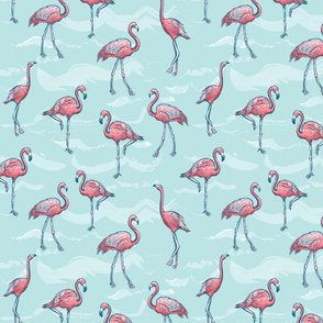 Sketchy Flamingo Party