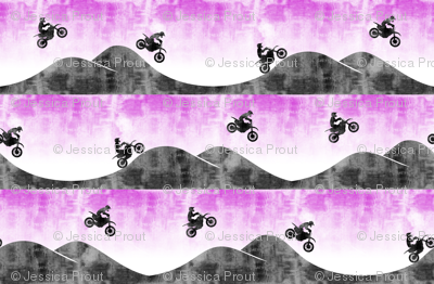 motocross / dirt bike || purple