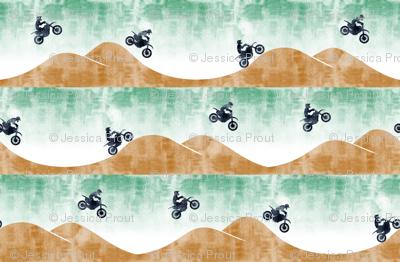 motocross / dirt bike || green
