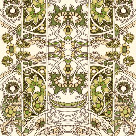 Enchanted Meadow Dance fabric by edsel2084 on Spoonflower - custom fabric