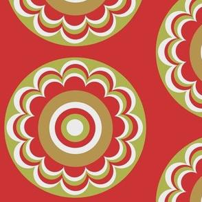 red khaki flower