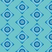 diamond blue daisy