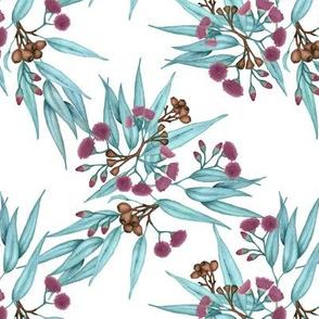 Gumnuts Purple Blossoms